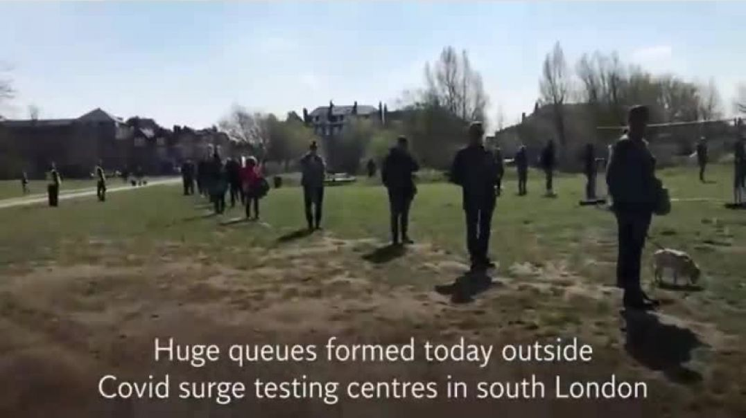 Thousands of BRAIN DEAD SHEEPLE queue up to get tested for SOUTH AFRICAN VARIANT