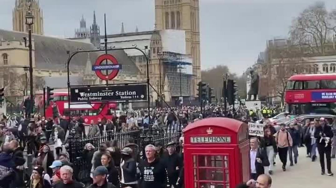 Freedom march no to the NWO in London