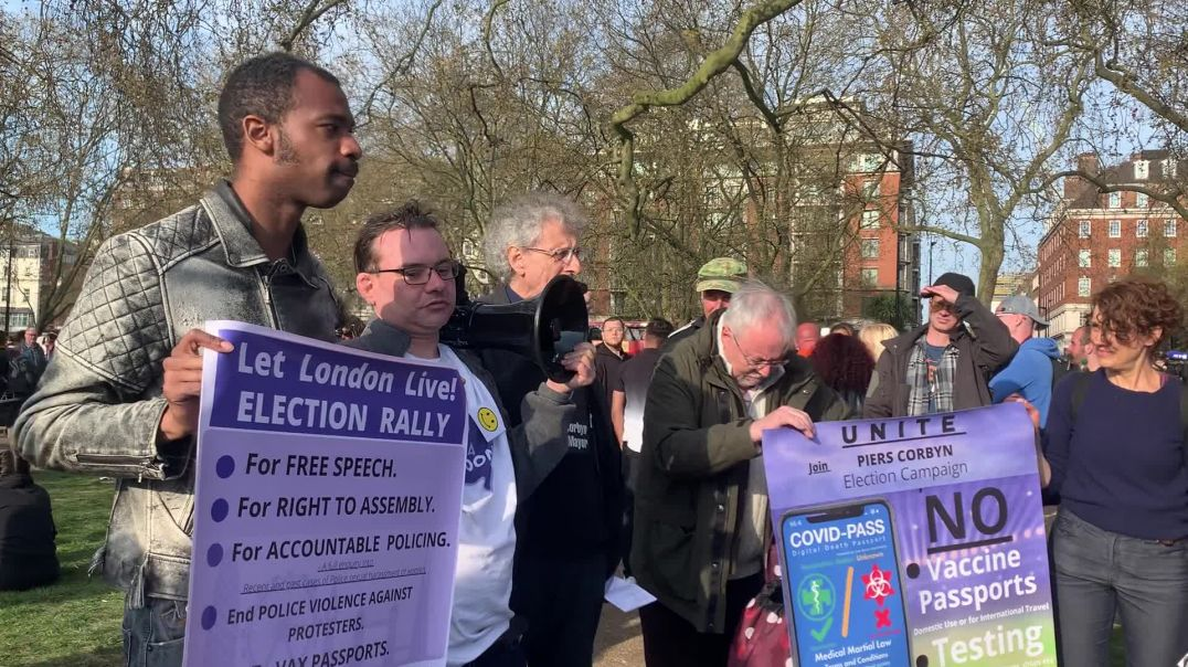 Piers Corbyn - We Have To Stand Up For Freedom - Hyde Park 24th April