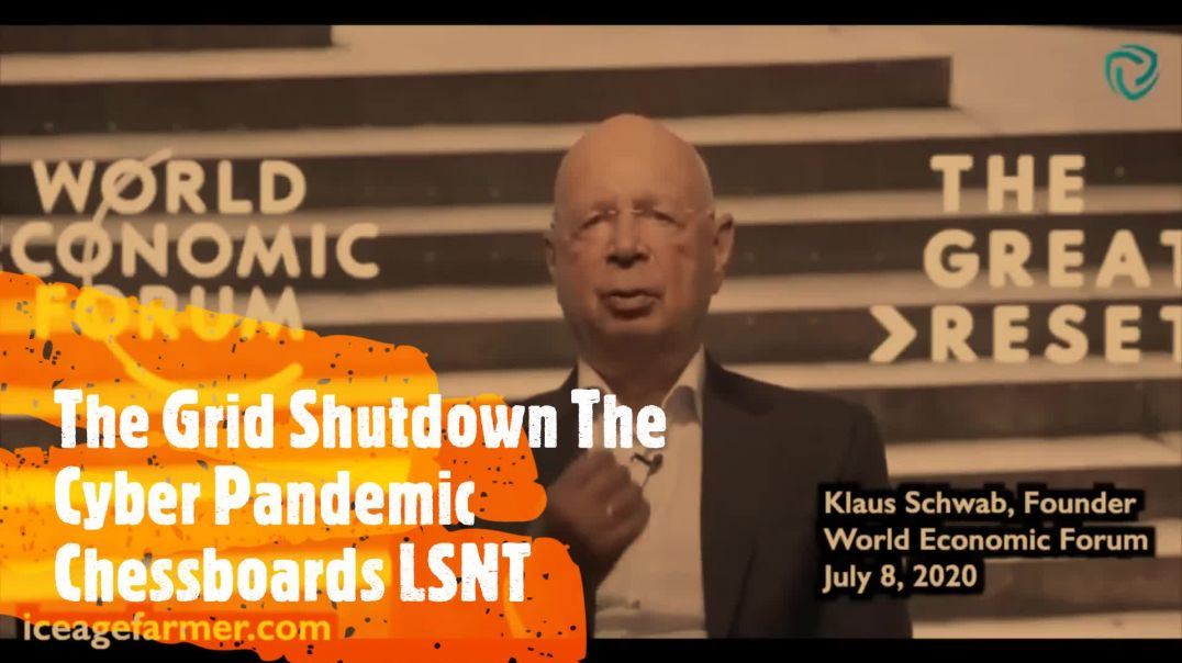 Cyber Pandemic KLAUS SCHWAB - Dark Winter Chessboards Great Reset Grid Down