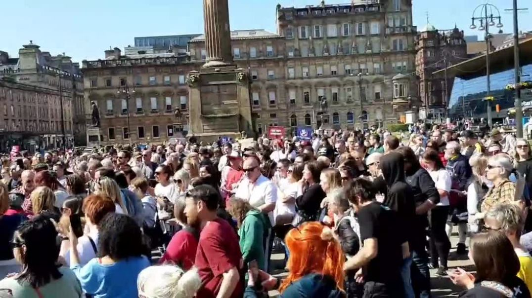 24th April 2021 - HUGE turnout at George Square, Glasgow