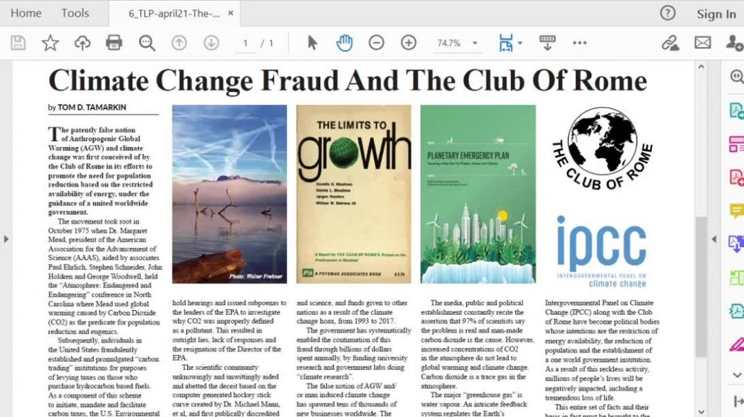 The Light Ep 8 April 21 Climate Change Fraud & The Club of Rome