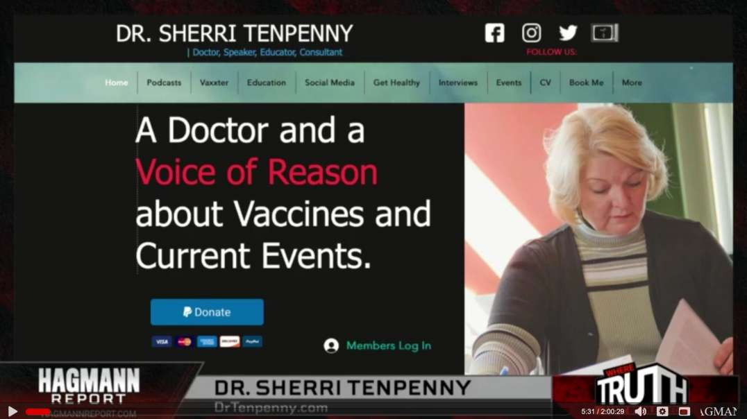 WATCH and SHARE - Dr. Sherri Tenpenny and Steve Quayle On The Hagmann Report!