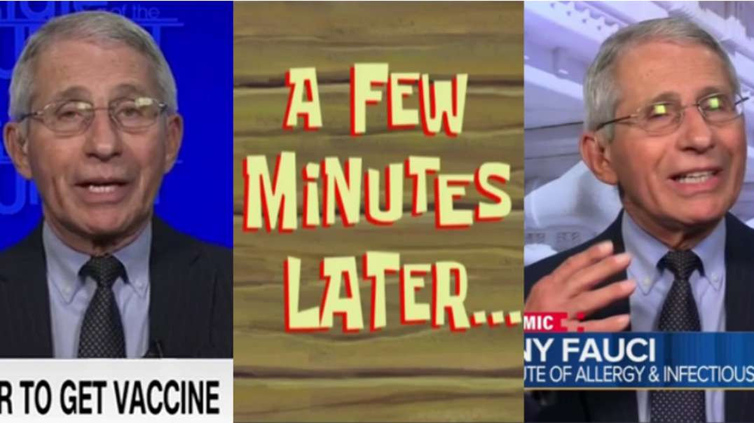 Fauci Contradicts Himself During Two Different Interviews Minutes Apart