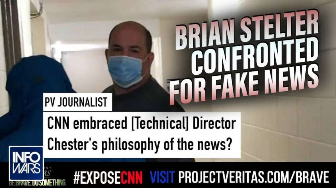 Brian Stelter Confronted Over Project Veritas Footage of CNN Director Admitting Propaganda