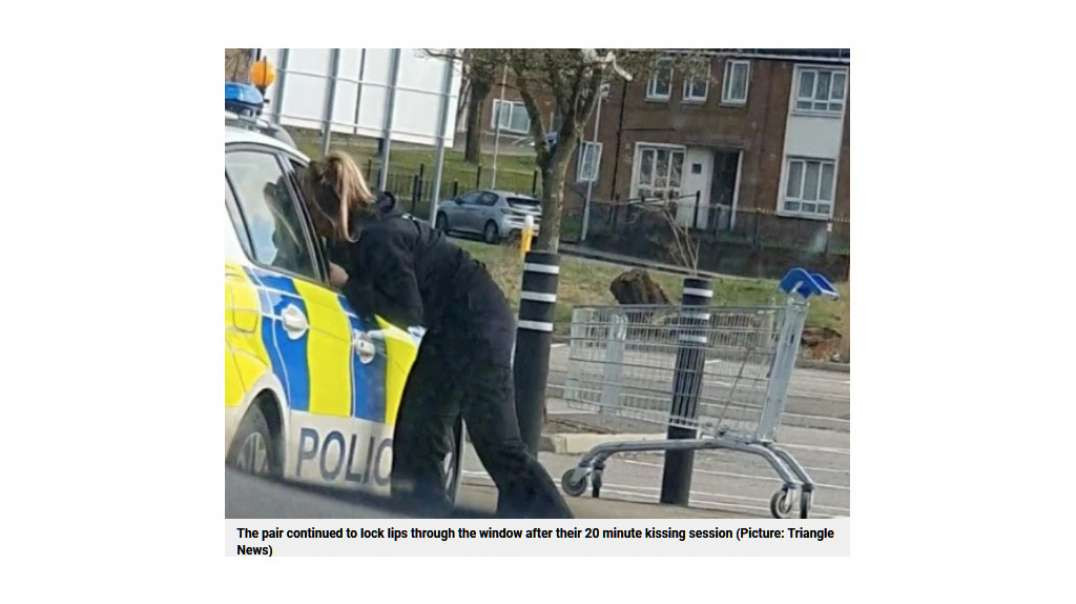 UK's KISSING POLICE OFFICERS - shameless, immoral, brain dead, morons being paid by the citizen