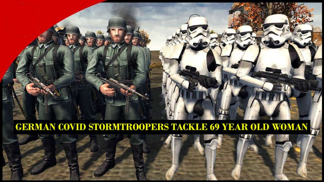 GERMAN COVID STORMTROOPERS TACKLE 69 YEAR OLD WOMAN