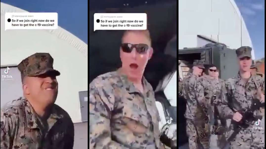 Epic reaction!  Vaccinated? Those are some smart Marines!