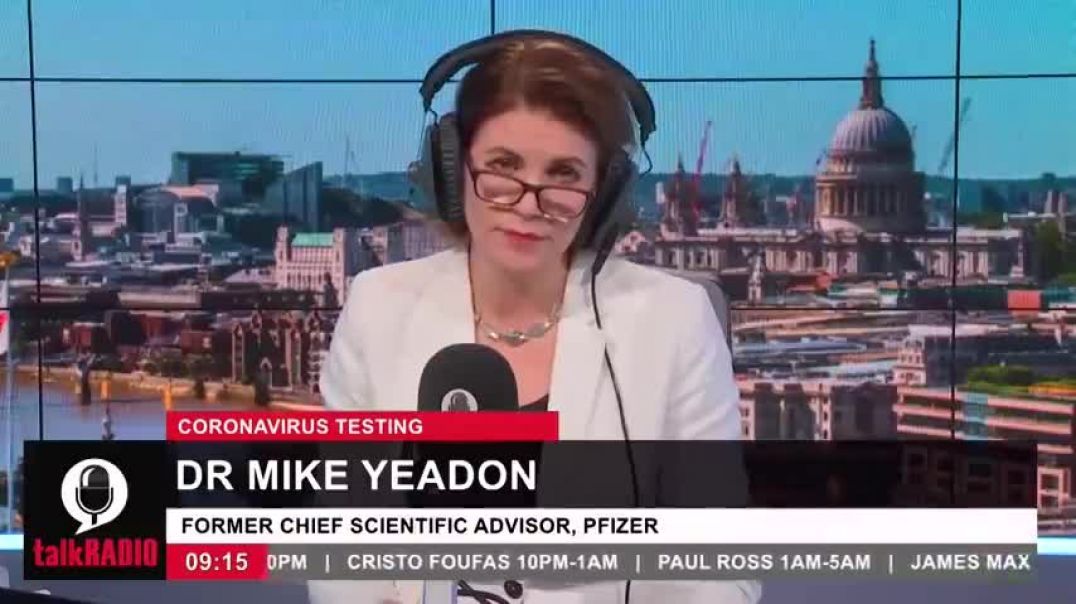 DR. MIKE YEADON (EX- PFIZER): GOVERNMENT IS USING A C19-TEST WITH UNDECLARED FALSE POSITIVE RATES