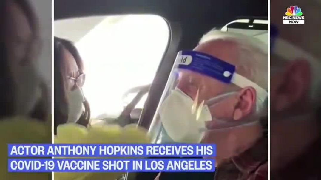 Nurse fakes jabbing Anthony Hopkins then squirts vaccine out