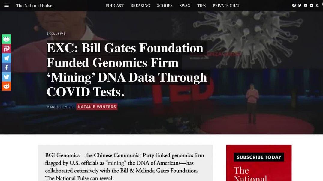 Bill Gates' Foundation Funded 'DNA Mining' Using COVID-19 Tests