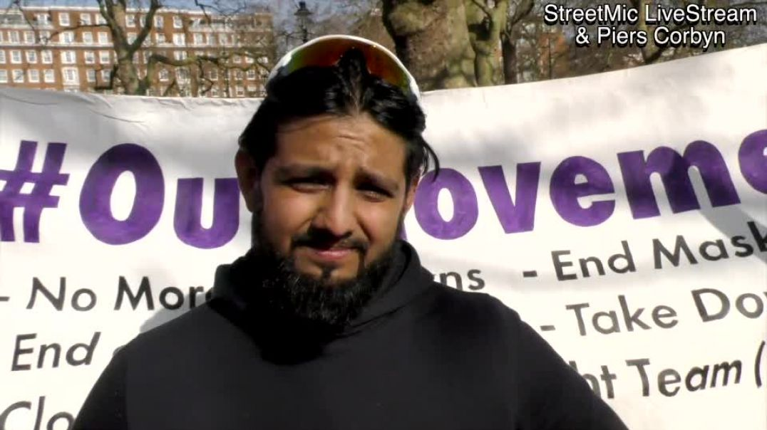 Omar Ahmed Labour Councillor backs Piers for Mayor at Hyde Park Rally