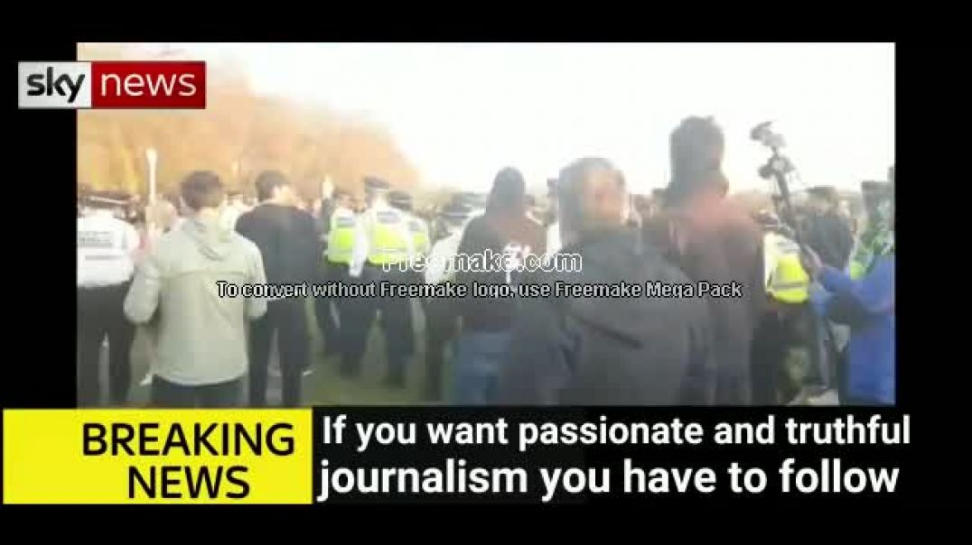 UK Police Attack Peaceful Freedom Marchers To Get Pictures Of Injured Police Officers For UK Mainstr