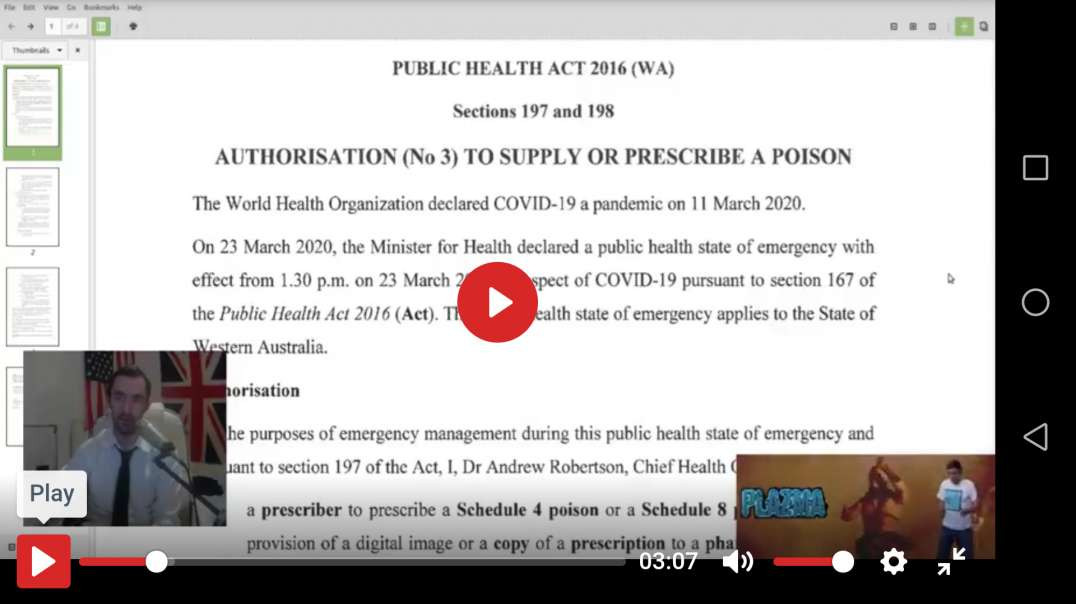 Australian Gov Documents: Vaccine Is A Poison Distributed By UN Chief Of Biological Weapons!!
