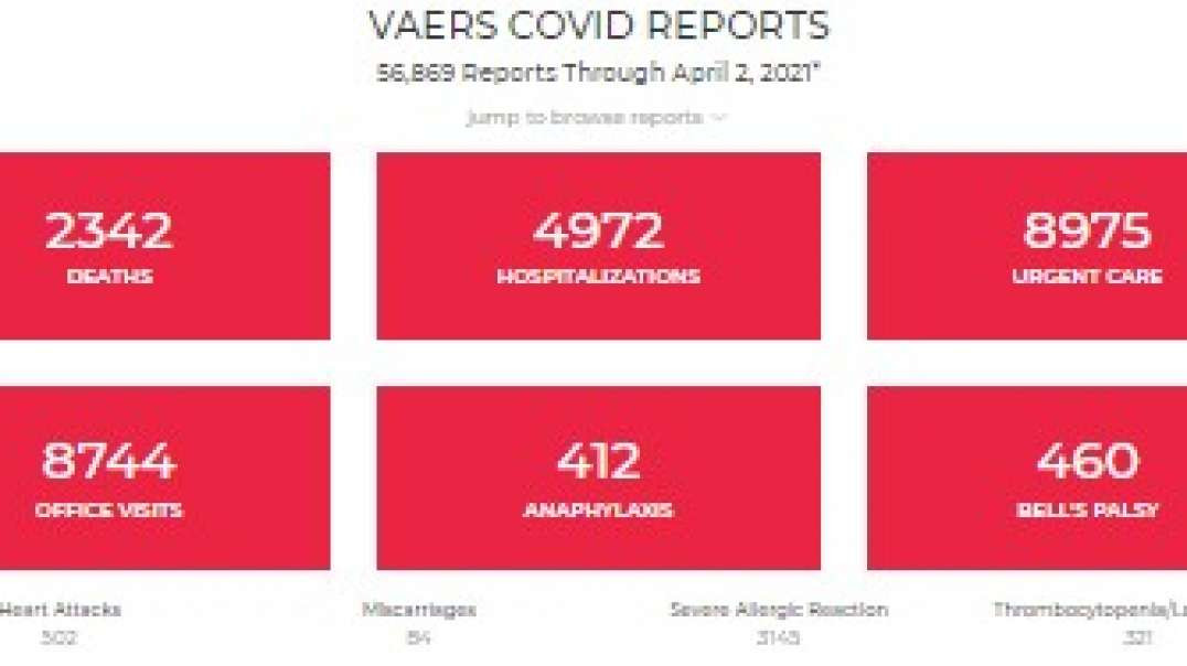 Weekly VAERS Update: 2,342 Dead 56,869 Effects! Officials: It's Elderly With Underlying Conditi