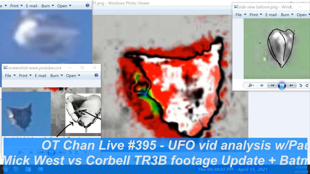 Part 1 of 2-Mick West vs Corbell Tr3b Update and other UAP vids and claims ] - OT Chan Live-395-Pt1