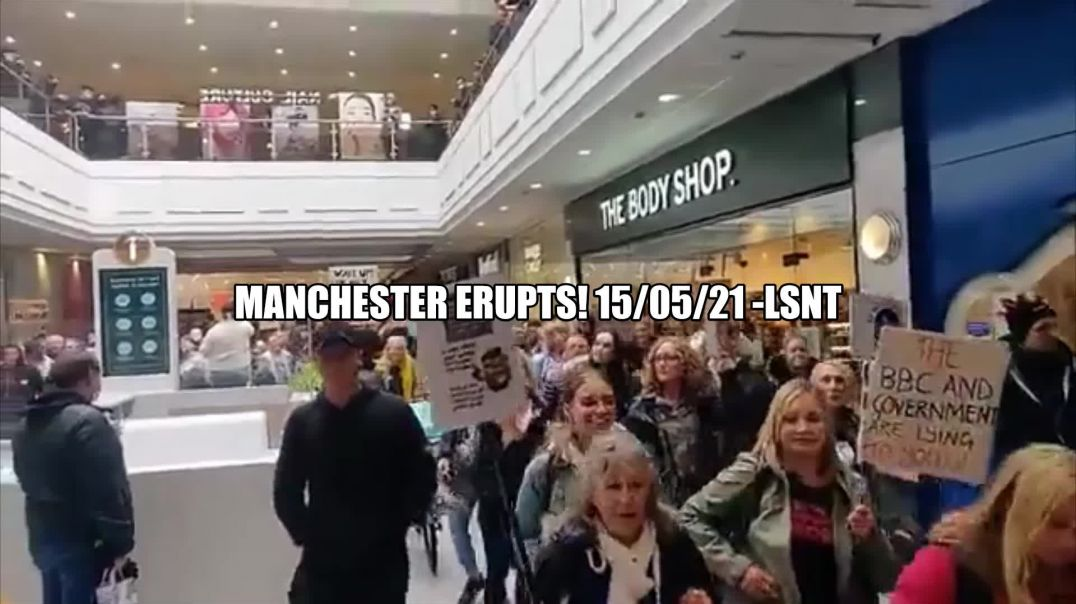BREAKING! Manchester Erupts Protesters Flood Arcade! 15/05/2021