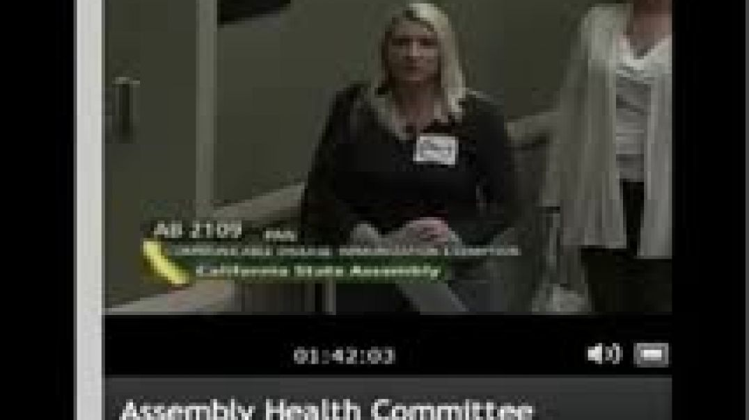 CA Health Committee Hearing on Vaccine Exemption Bill AB2109 April 27, 2012 Part 5
