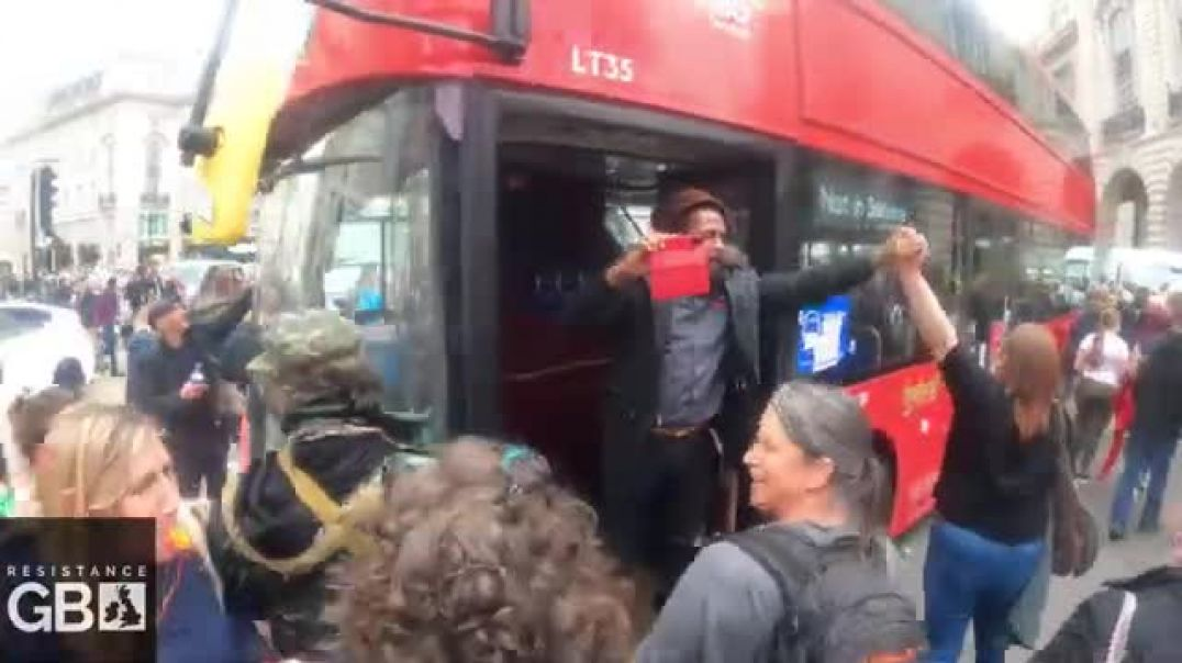 Bus Driver Joins Protest In London