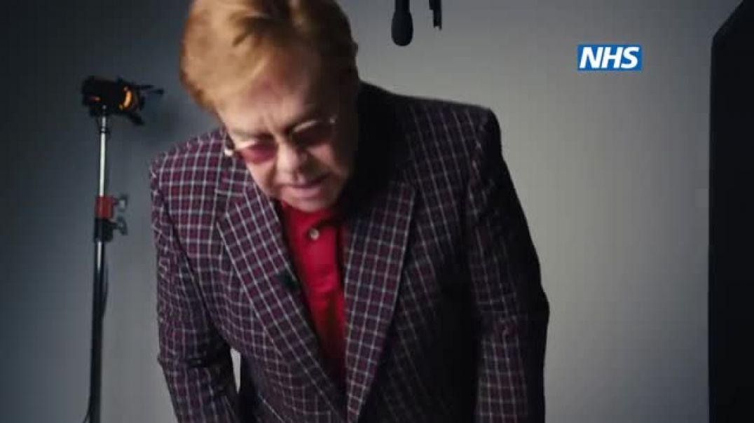 Yellow toothed Elton John and others continue trying to convince the SHEEPLE to GET JABBED