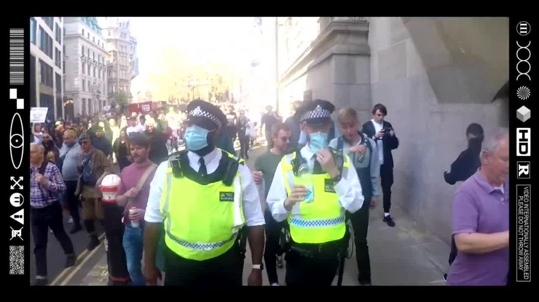 (EMB) THE REVOLUTION WILL BE NOT BE TELEVISED! UNITED FREEDOM MARCH MONTAGE (LONDON 24_04_21)