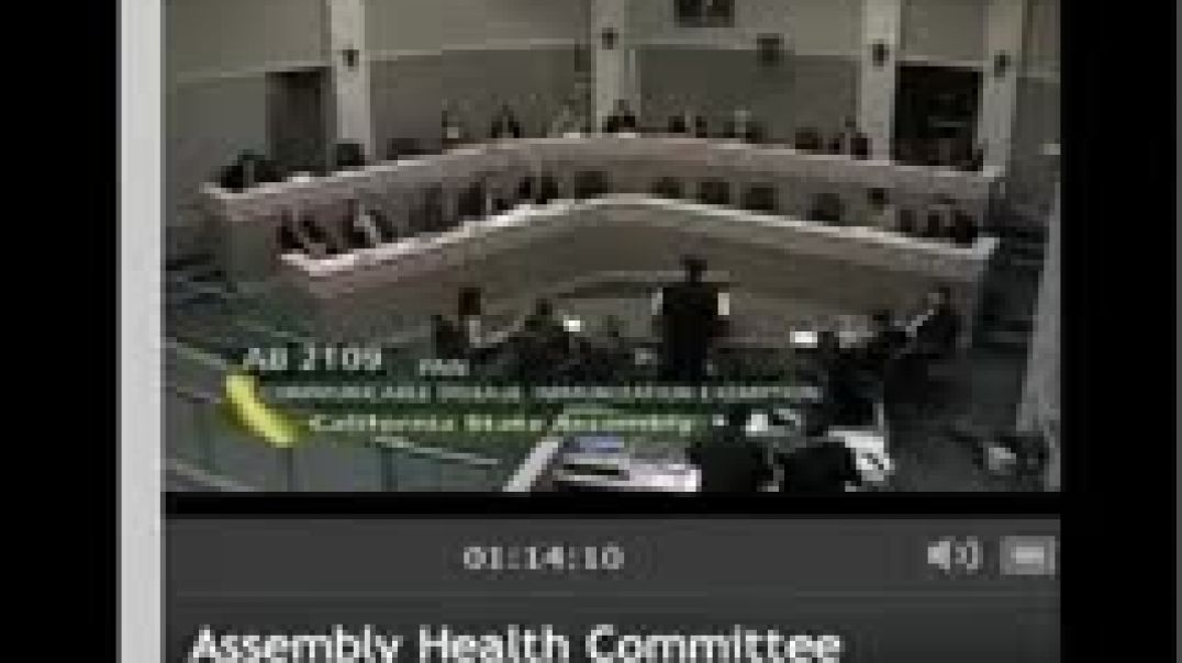 CA Health Committee Hearing on Vaccine Exemption Bill AB2109 April 27, 2012 Part 3