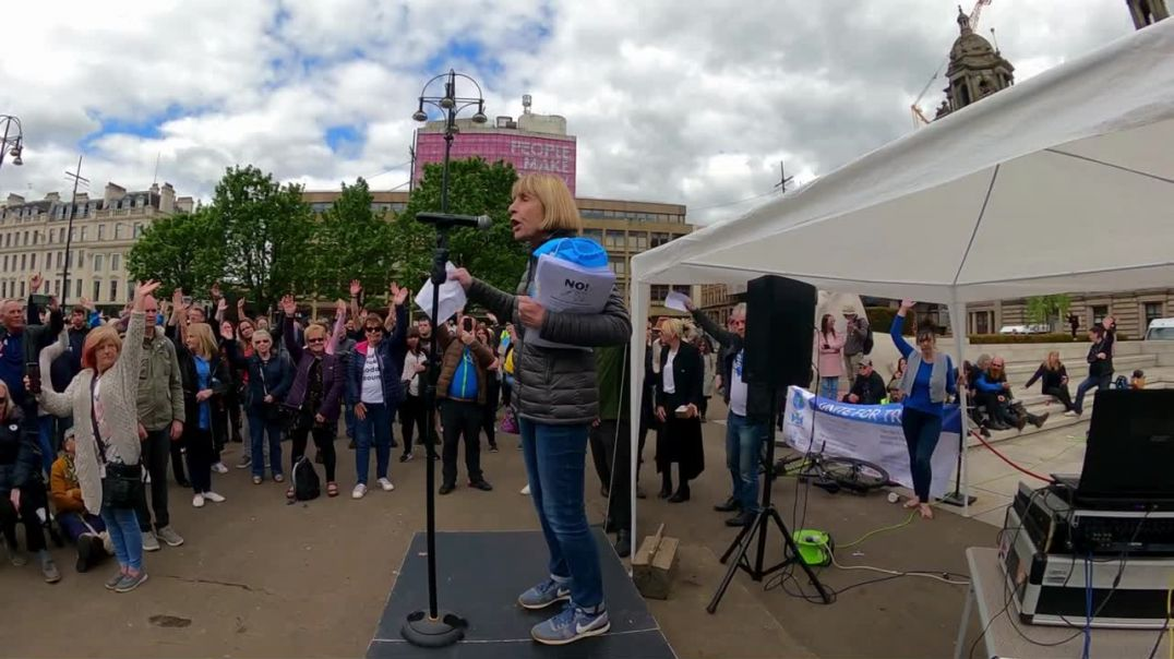 A Peaceful Gathering In George Square featuring Neanie Scott