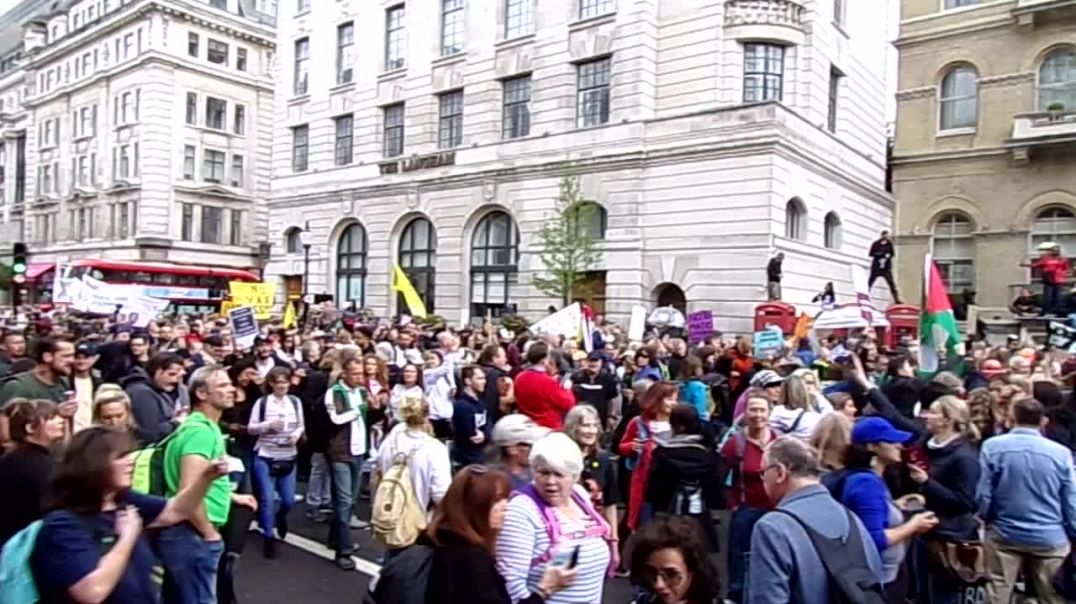 Protesters Gather At BBC Broadcasting Building! London, 15 May 2021