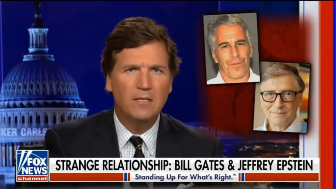 ⁣Tucker. Strange relationship: Bill Gates & Jeffrey Epstein