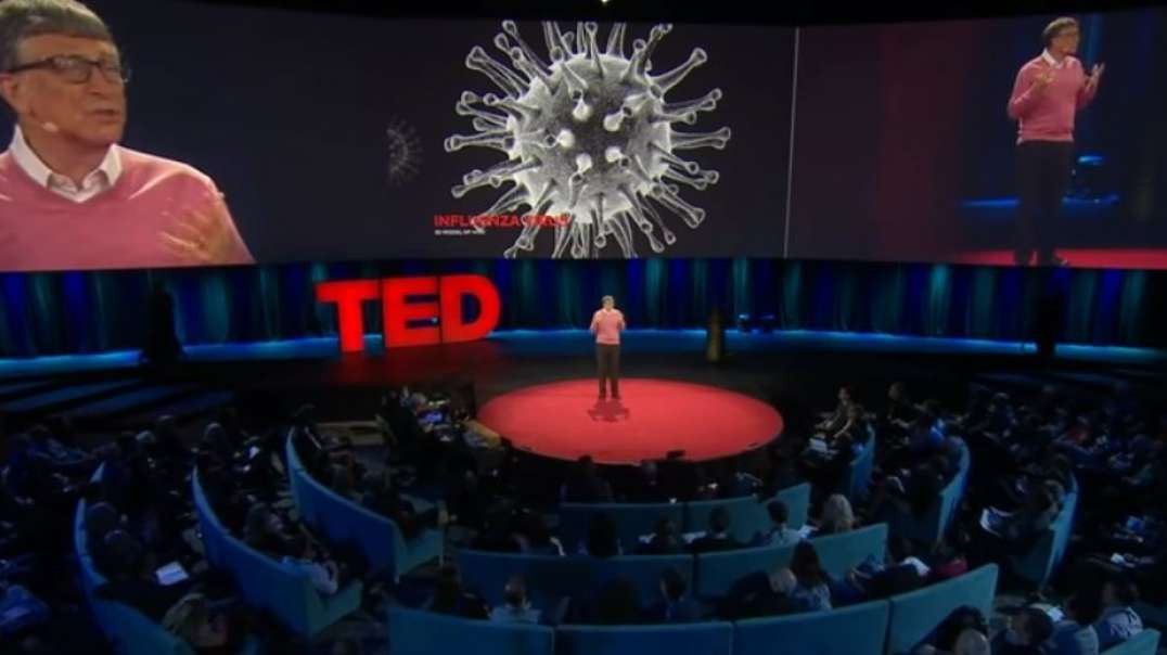 Conferencia TED 2015 Bill Gates hablando descaradamente de la pandemia