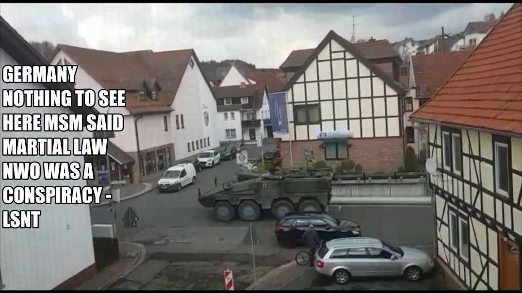Army Arrived on the streets in GERMANY Martial Law