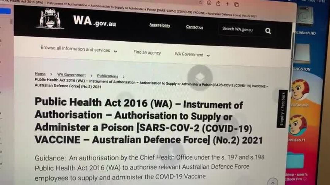 WA Govt Notice to Administer to Covid-19 Poison Vaccine to Public (1)
