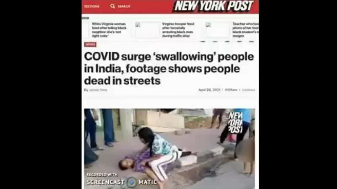 FAKE news about COVID crisis in India