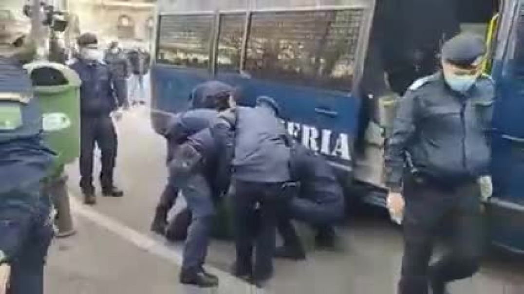 Romanian Police Beat Man For No MASK