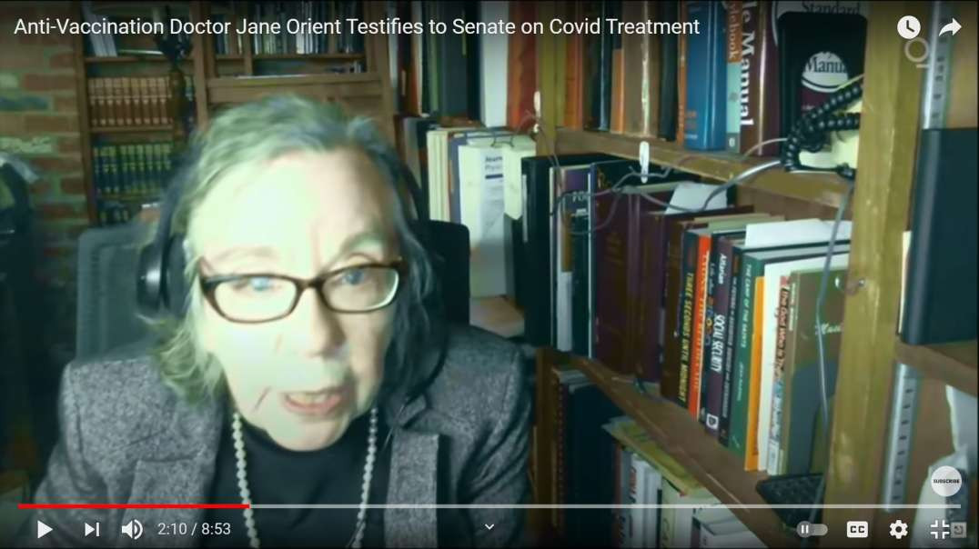 Doctor Jane Orient Testifies to Senate on CRIMINAL ACTIVITY of FDA for BLOCKING Covid Treatments!