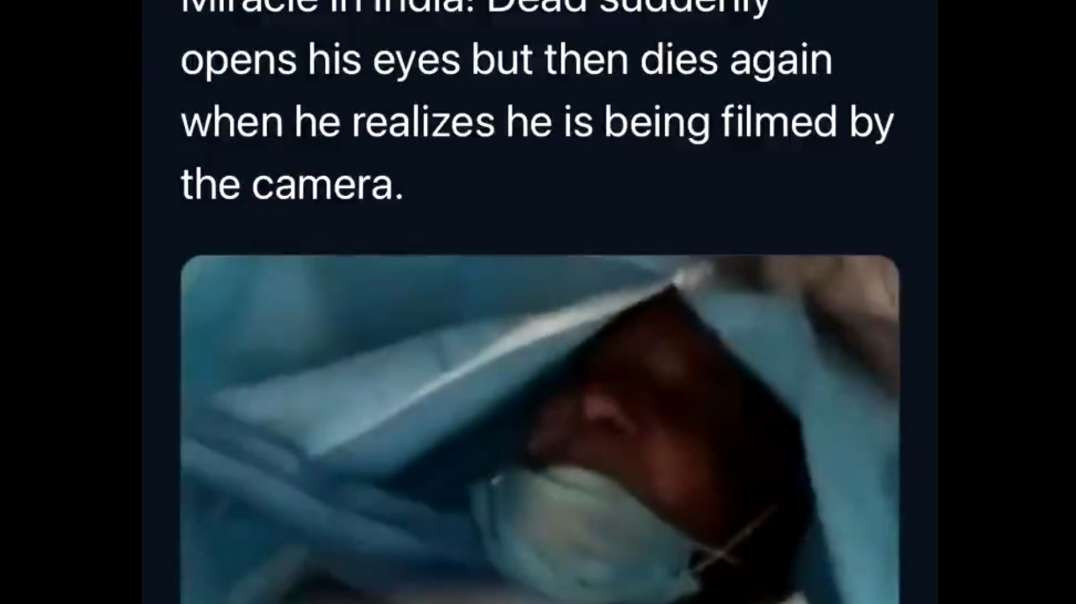 india dead then suddenly opens up his eyes then dies again when he realises he's being filmed