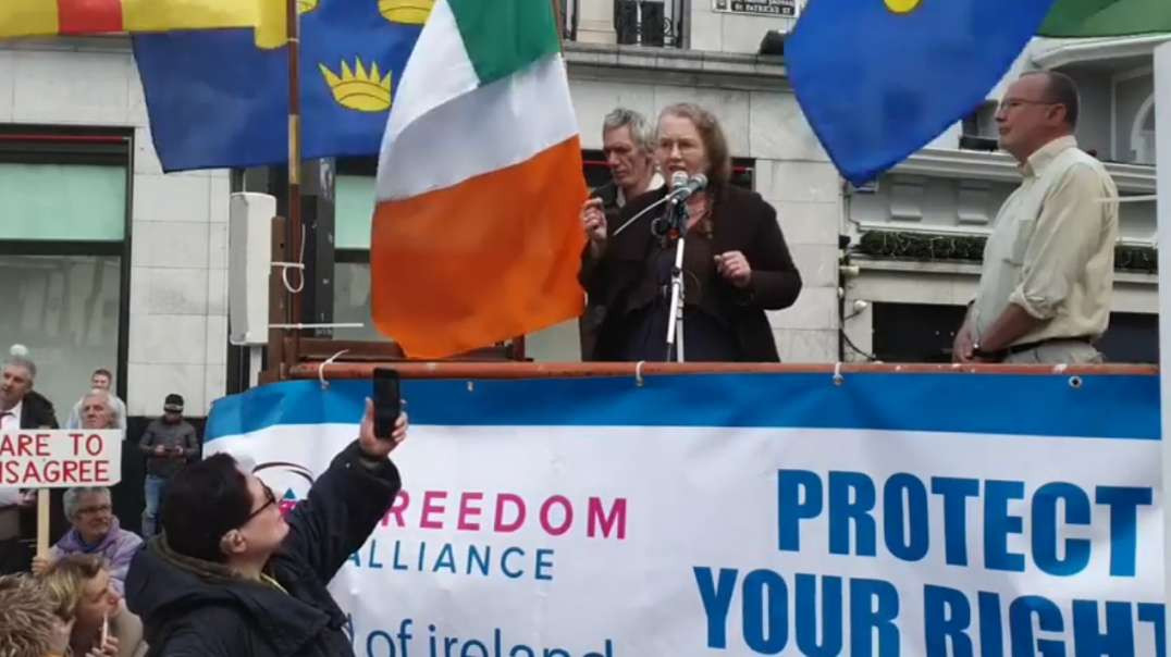 No Surrender - Freedom Fighter Prof Dolores Cahill In Cork City, Ireland