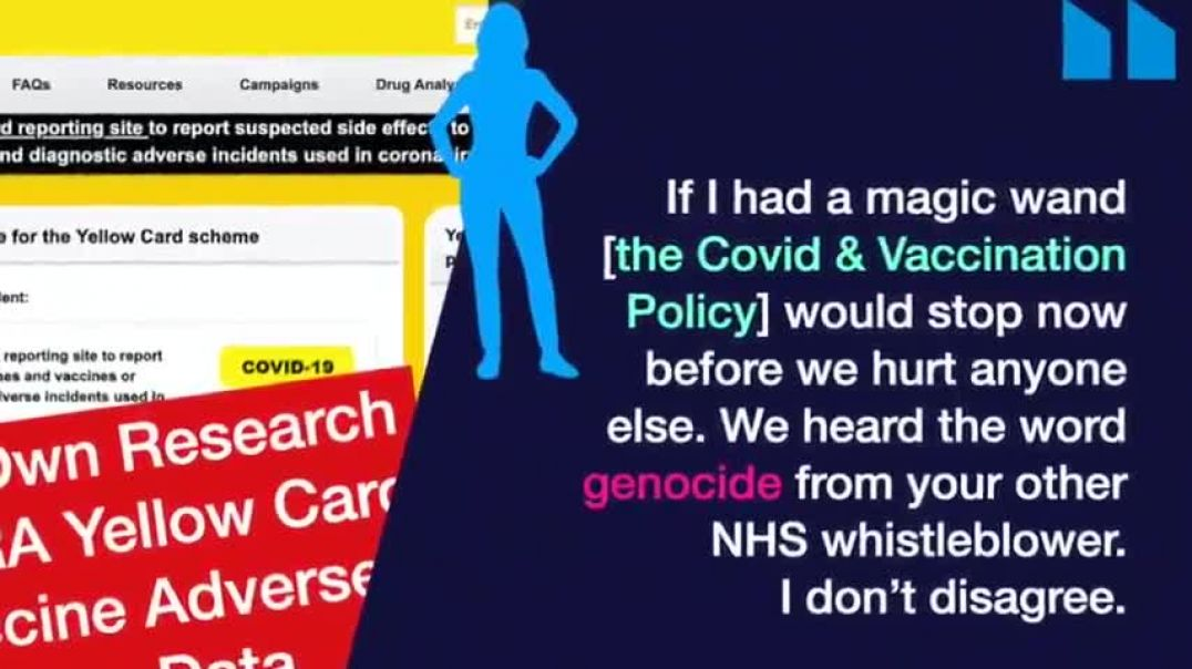 SENIOR NHS BOARD MEMBER WARNS: STOP THE GENOCIDE OR OUR CHILDREN ARE NEXT!