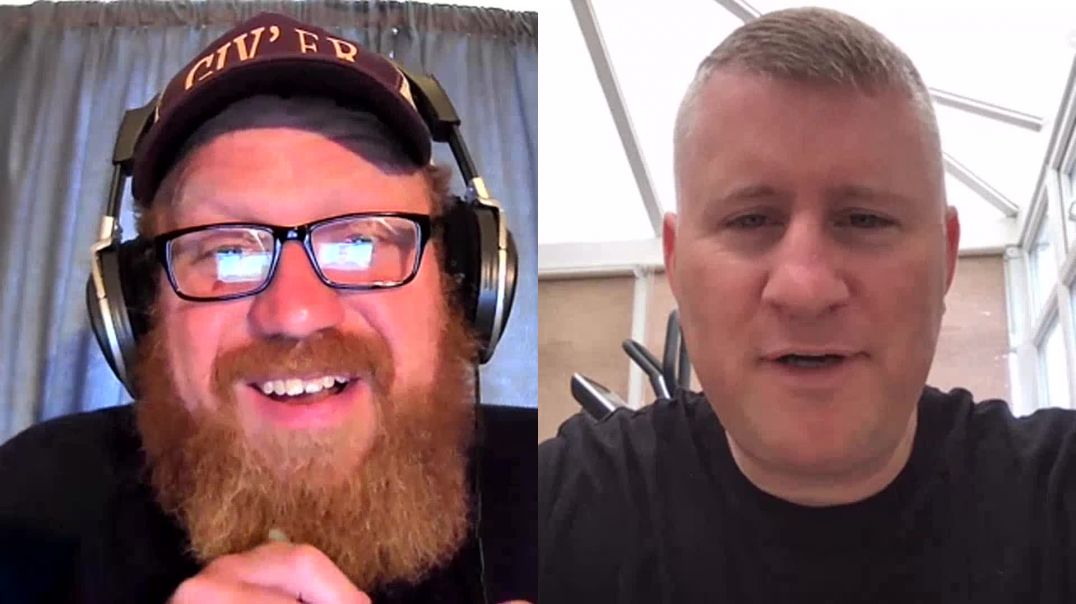 Paul Golding leader of Britain First comes onto the podcats.