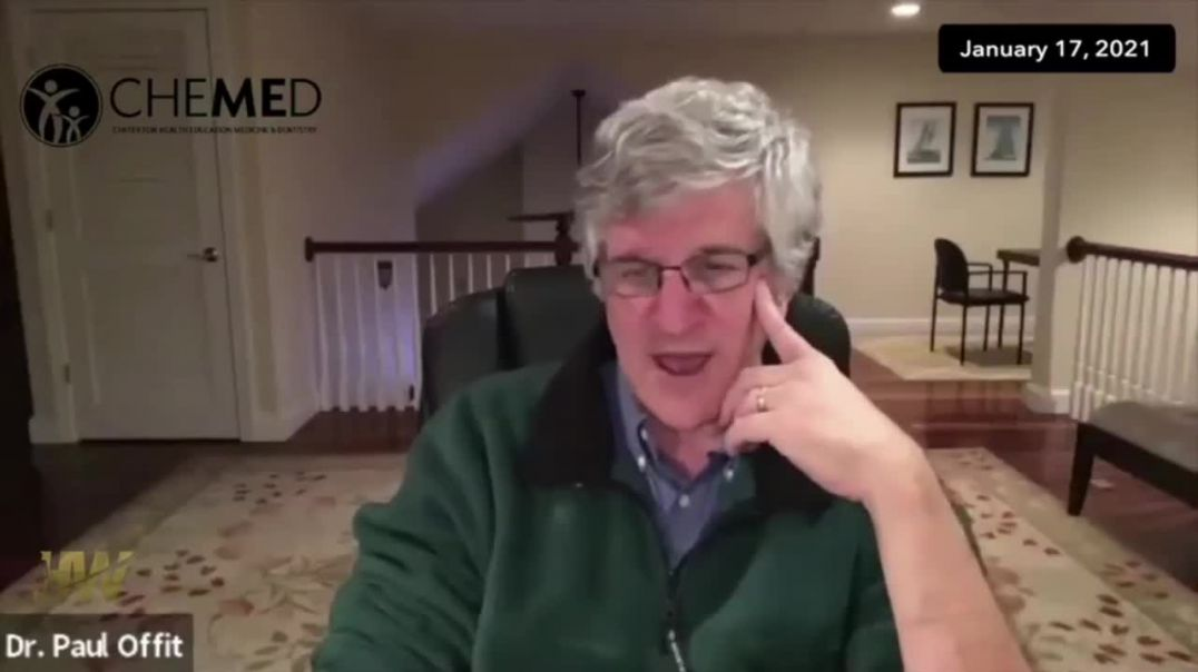 Dr. Paul Offit's Own Experience With The Injections: He Was Scared To Get Second Dose.
