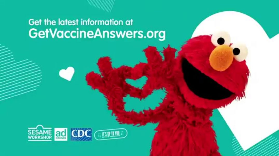 Sesame Street Says Go Get Your CONvid Jab To Stay Healthy.