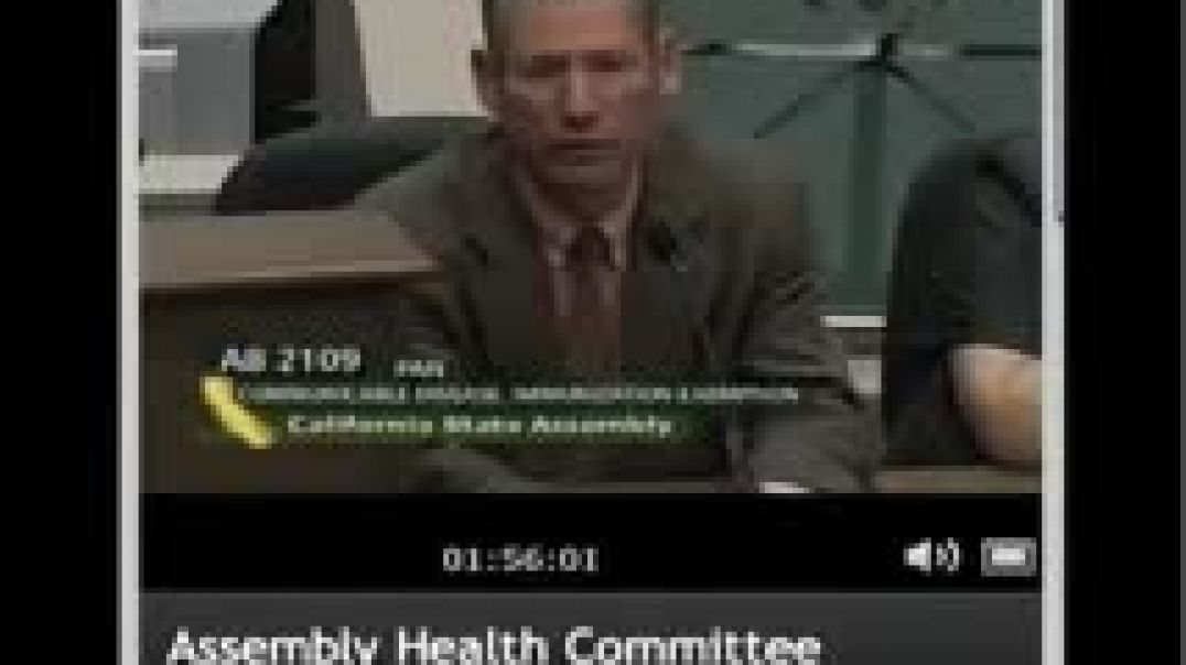 CA Health Committee Hearing on Vaccine Exemption Bill AB2109 April 27, 2012 Part 6