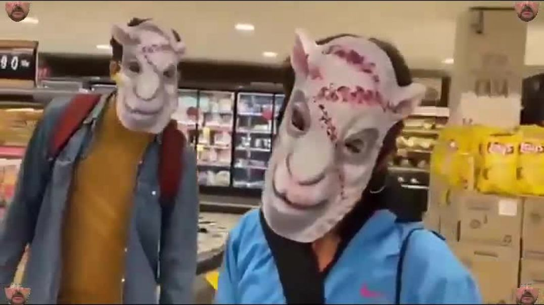 SHEEPLE go shopping in FACE MASKS.......baaaa.......baaaaa