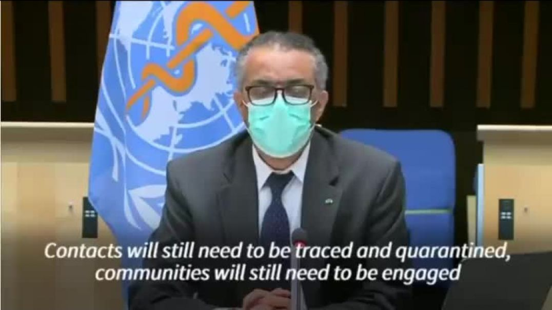 Tedros the TWAT says vaccines will not end the pandemic