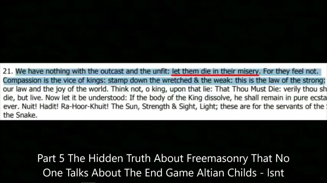 Open Your Eyes Part 5 THE HIDDEN RELIGION - Dark Freemasonry End Game Great Awakening Altian Childs