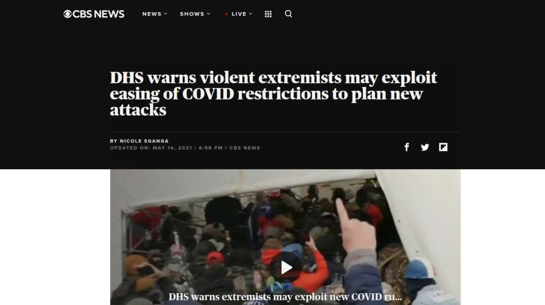 DHS Warns of Muh Terrorism, CDC Says No Masks, Fauci Sacrifice