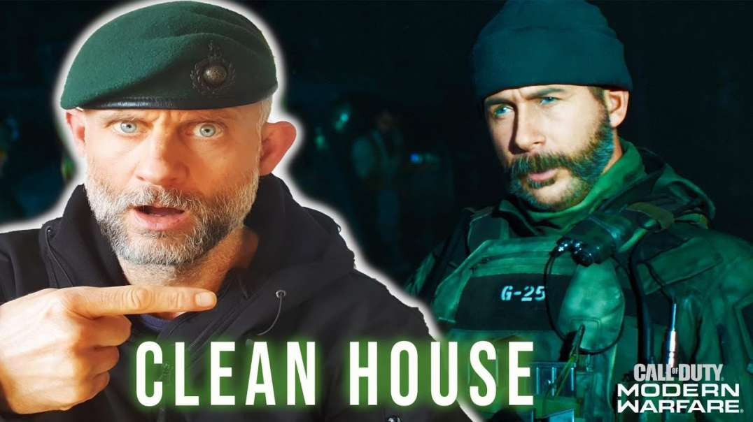 Royal Marine Reacts to 'Clean House' COD Modern Warfare