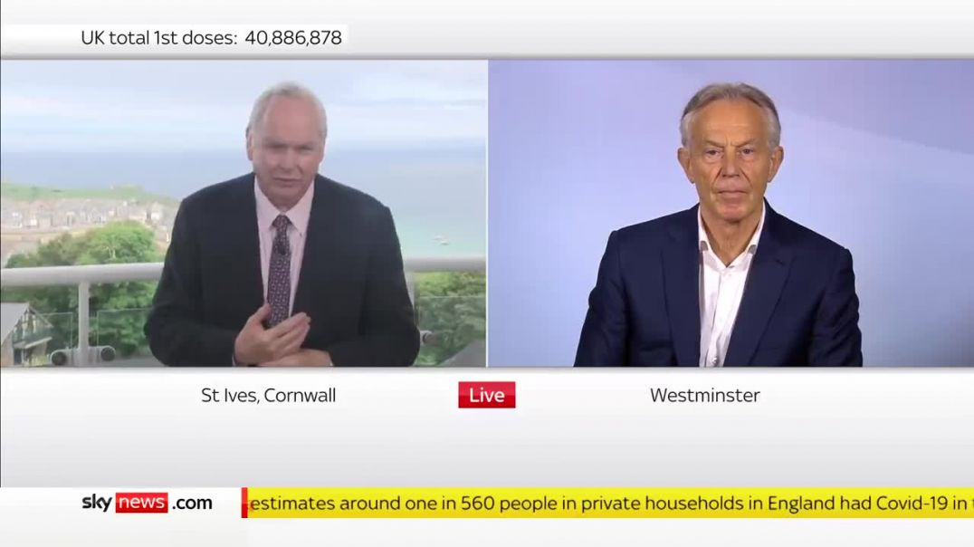 Tony Blair - G7 Summit - The WORLD MUST BE JABBED and CONTROLLED by a BIO-METRIC JAB ID!