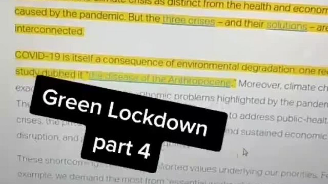 Wake Up From COVID - Ready for green lockdowns? The criminal psychopaths are going to be right back