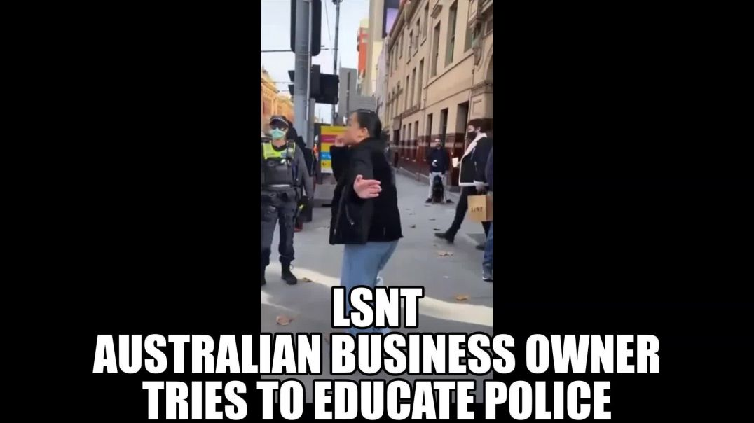 Australian Business Owner Tries To Educate Police In Street PROTEST
